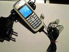 Nokia 6020 BIANCO ARGENTO simlfrei caricatrici BATTERIA SUPER OK USATO ART 213 X