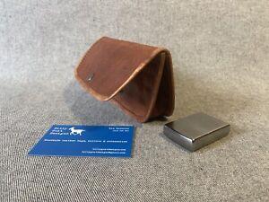 Leather Tobacco Pouch WTPS-Z Inside Zip Press-stud Handmade Billy Goat Designs
