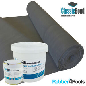 PREMIUM RUBBER ROOF KIT FOR FLAT ROOFS, INCLUDES 1.5mm EPDM MEMBRANE & ADHESIVES