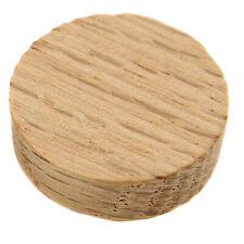 """100 Pcs - 3/8"""" Oak Wood Side Grain Screw Hole Plugs Round Buttons - Platte River"""