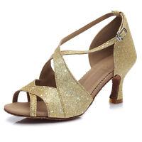 Women Girl lady's Latin Ballroom Tango Dance Dancing Shoes heeled Salsa B62