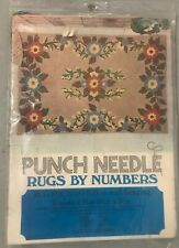 """New listing Punch Needle 1974 Rugs By Numbers 24"""" x 36"""" Cape Cod 1500D Vogart Crafts Vintage"""