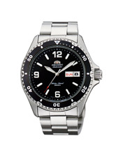 Two  New  Orient  Men  Diver Silver Watch Automatic  Mako ll Black Dial