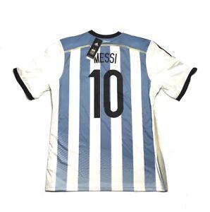 Men adidas Argentina Home 2014 #10 MESSI  Maglia Maillot Soccer Football NEW