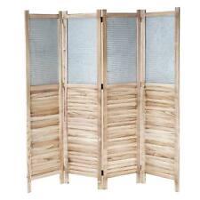 Paravent HWC-D27, Raumteiler Trennwand spanische Wand Sichtschutz, Holz Metall