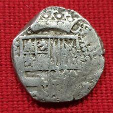 POTOSI -BOLIVIA - SILVER COB 2 REALES - SPANISH KING PHILIPPUS III- 1598-1621