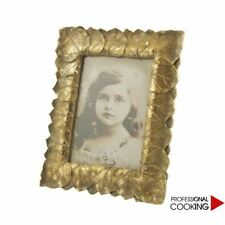 Villa D' Este cornice porta foto decoro foglie colore oro cm. 25 x 20