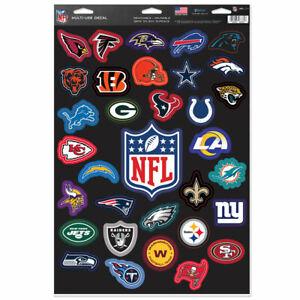 "NFL LEAGUE COMPLETE SET OF 32 TEAMS MULTI-USE DECALS 11""X17"" LIKE FATHEAD"