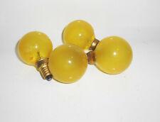 4 alte gelbe Tungsram Glühlampen 220-230 V 15 W E14 Glühbirne Kugel Beleuchtung