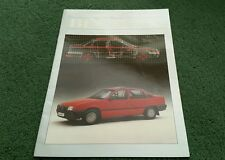 December 1985 / 1986 VAUXHALL BELMONT ACCESSORIES COLOUR BROCHURE Astra