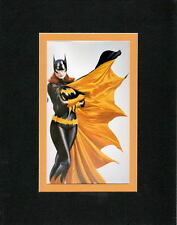BATGIRL PRINT PROFESSIONALLY MATTED DC Alex Ross Art Batman