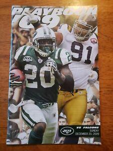 2009/12/20 Game Playbook Program NY Jets vs Atlanta Falcons Thomas Jones