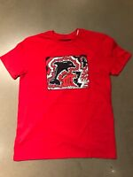 pink dolphin Red T Shirt Navy Logo SZ 3XL NWT 100% Authentic