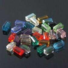 80pcs Swaro-element  4x4x8mm Cuboid Crystal beads E Multi-colored