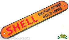 Cast Iron Small Orange Shell Sign MOTOR SPIRIT SOLD HERE Petrol Car Garage YSHEL