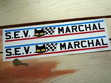 """SEV Marchal 15"""" Pair Race Car STICKERS GT40 Ligier Jaguar Le Mans Racing Bike"""