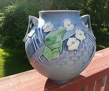 ROSEVILLE BLUE Clemana spherical bulbous vase 754-8 Impressed Mark