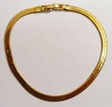 Elégant bracelet bijou vintage chaîne serpent plate couleur or  2828