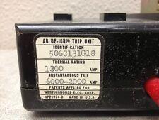 WESTINGHOUSE AB DE-ION 506C131G18 TRIP UNIT 3 POLE 1200 AMP 600 VOLT
