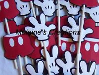Mickey Mouse cupcake toppers set of 12 includes gloves shorts heads