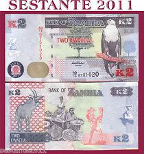 ZAMBIA     2 KWACHA 2012 /2013     P 49 ( NEW)     FDS  / UNC