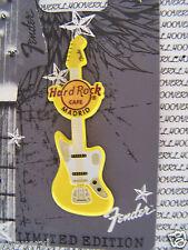 2013 HARD ROCK CAFE MADRID FENDER SPRAYED METAL GUITAR SERIES LE PIN