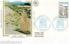 1985**ENVELOPPE SOIE**FDC 1°JOUR!!**UNESCO-TUNISIE**TIMBRE Y/T 88