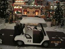 "Train Garden House Village "" The Golf Cart Vehicle "" + Dept 56/Lemax info! Wow!"