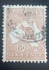 AUSTRALIA SG107 1929 6d CHESTNUT  USED
