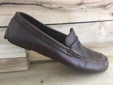 Coach Mens Brown Leather Randolf Penny Loafer Dress Shoes 1827 Size 8.5