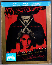 V FOR VENDETTA BLU-RAY STEELBOOK NEU & OVP SEALED DEUTSCHER TON V WIE VENDETTA