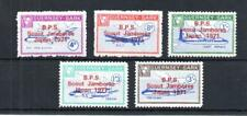 GUERNSEY-SARK 1967 SET MOUNTED MINT + SCOUT JAMBOREE OVERPRINTS IN RED