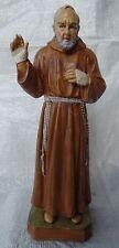 Pater Pio von Pietrelcina 22 cm Kunststoff Figur Statue Padre Pione NEU S/173