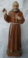 Père Pio de Pietrelcina 22 Cm PLASTIQUE Statue Figurine Padre Pione NEUF S/173