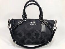 COACH 15935 Madison Sophia OP Art Dot BLACK Convertible Satchel EUC! MSRP $298