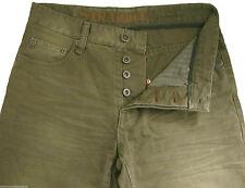 New Men's Dull Green Straight NEXT Jeans Waist 28 Regular