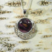 """Heather """" Celtic Disc """" Pendant Handmade & Silver Plated Necklace  HG-7C"""