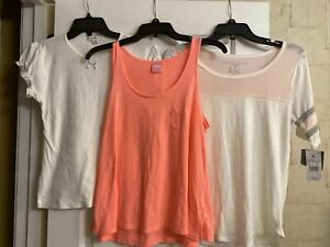 Ladies Sleepwear Tops Lot of 3 Jenni Hilfiger Grayson/Thread New & Preowned Sz M