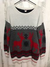 MOSSIMO Holiday Christmas Sweater Reindeer Ugly Cute Cozy XL