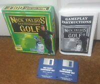 Commodore Amiga Nick Faldos Championship Golf Big Box Complete Game