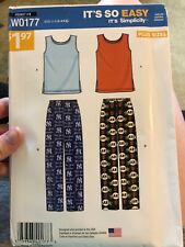 SIMPLICITY PULL ON PANTS TOP PATTERN W0177 SIZE S-XXXL UNCUT FREE SHIPPING