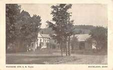 wayside inn s.b. taylor buckland massachusetts L4433 antique postcard