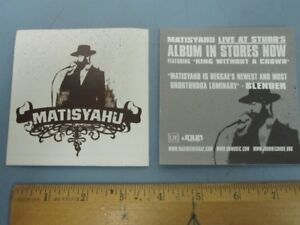 MATISYAHU 2005 Live At Stubb's Promotional Sticker New Old Stock Flawless