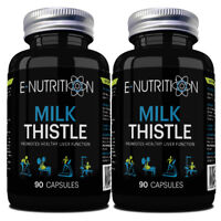 MILK THISTLE x2 *180 CAPSULES* *INCREDIBLY POWERFUL LIVER DETOX* E-NUTRITION