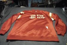 Hardwood Classic HOUSTON ROCKETS Red Pullover Track Jacket Size 4XL Tall