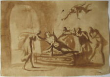 MERVEILLEUX DESSIN ANCIEN ITALIEN, 16-17ème siècle, OLD MASTER DRAWING MUSEUM Q