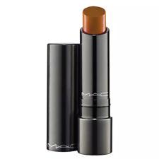 MAC Huggable Lipcolour~RICH MARRON~Light Brown Luminous Lipstick RARE WORLD Ship