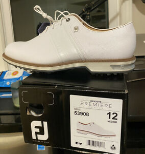 FootJoy DryJoys Premiere Series - Packard White size 12 brand new in box