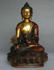 """8""""Old Tibetan Brass Buddhism Bodhisattva Sakyamuni Buddha Statue: Free shipping"""