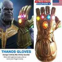 US Thanos Infinity Gauntlet LED Light Gloves Cosplay Avengers Infinity War Prop!